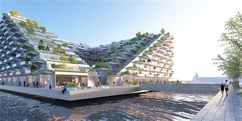 Apartment Courtyard by Bjarke Ingels Group To Build Floating Sluishuis In Amsterdam
