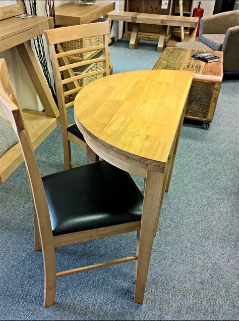 babett half moon extending dining table with 2 chairs set