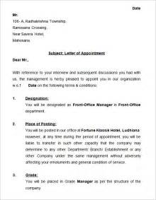 Offer Letter Copy Appointment Letter Template In Doc Offer Letters Pdf