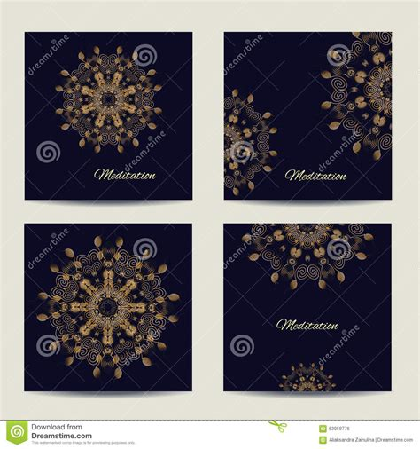 Set Square Lace Cc set of square vector cards or invitations with mandala