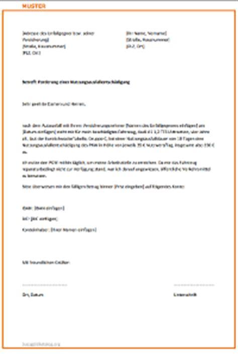 Musterbrief Schadenersatz Versicherung Musterbrief Versicherung Autounfall