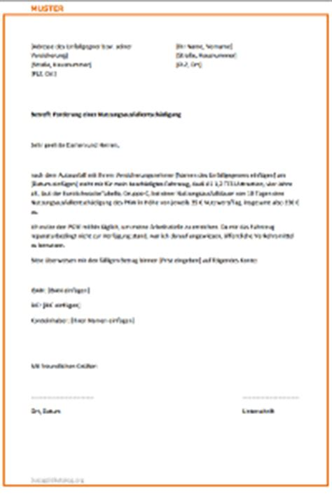 Musterbrief Versicherung Wertminderung Musterbrief Versicherung Autounfall
