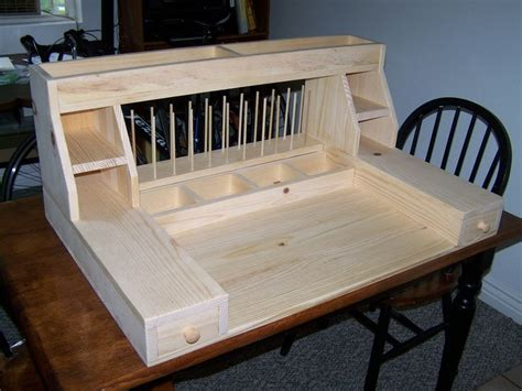custom fly tying desk by spencer cook flys