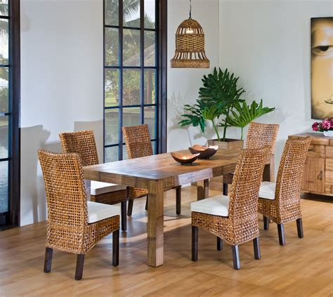 Bamboo Dining Room Set Dining Room Inspiring Rattan Dining Room Sets Bamboo Dining Sets White Rattan Dining Set