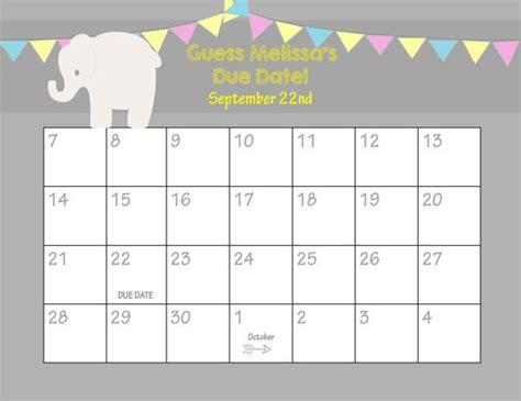 Guess The Due Date Calendar
