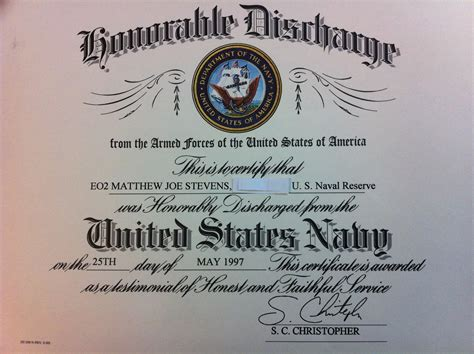 honorable discharge certificate template matthew j u s navy seabees honorable discharge