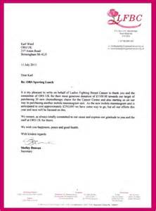 thank you letter sle lunch 28 images letter of