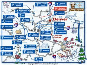 colorado skiing snowboarding resort map co vacation