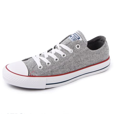 converse grey sneakers converse chuck all wool ox 540339f womens