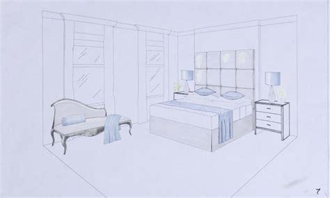 interior perspective of a bedroom master bedroom bathroom dressing room kensington perspective drawing interior designers