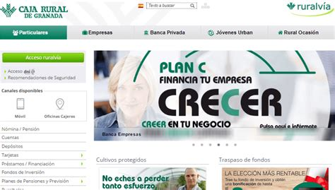caja rural banca electronica ruralv 237 a granada banqueando