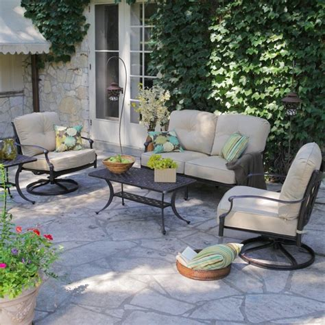 outdoor patio set palazetto milan collection outdoor