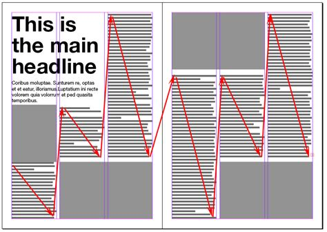 magazine columns and their layout options magazine designing magazine spreads good and bad practices photo