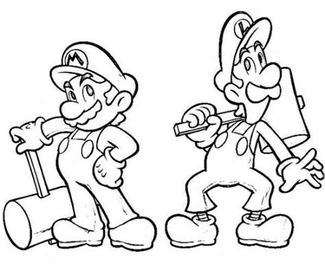 coloring page mario and luigi mario and luigi coloring pages protect the princess