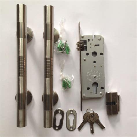 Pasang Kunci Pintu jual 1 pasang gagang pintu stainlees 1 set kunci