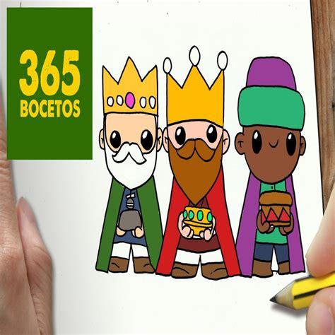 imagenes reyes magos para niños o dibujar reyes magos para navidad paso a paso dibujos