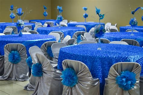blue decorations beautiful quince decorations 15 quinceanera blue theme