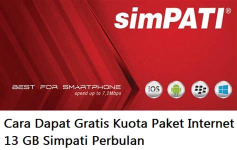 paket internet gratis cara dapat gratis kuota paket internet 13 gb simpati