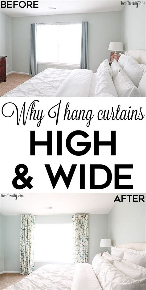 how high should my bed be best 25 hang curtains ideas on pinterest how to hang