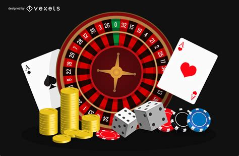 casino poker game chips cards vector