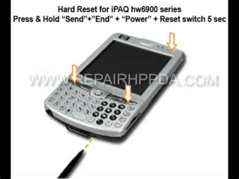 hard reset hp deskjet d2660 how to soft hard reset for hp ipaq hw6910 6915 6920