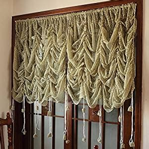 balloon curtains for sale com fadfay beautiful lace sheer balloon curtains