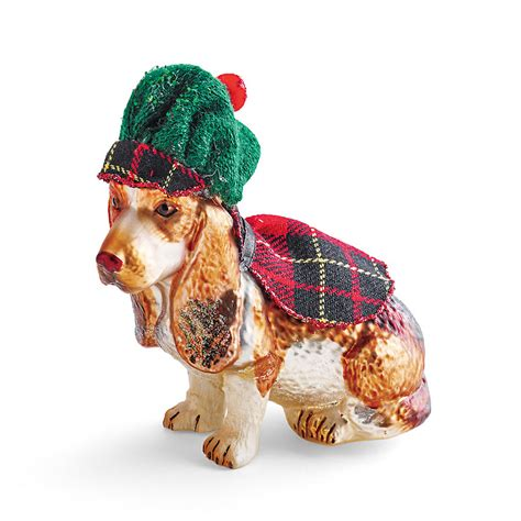 scottish basset hound christmas ornament gump s