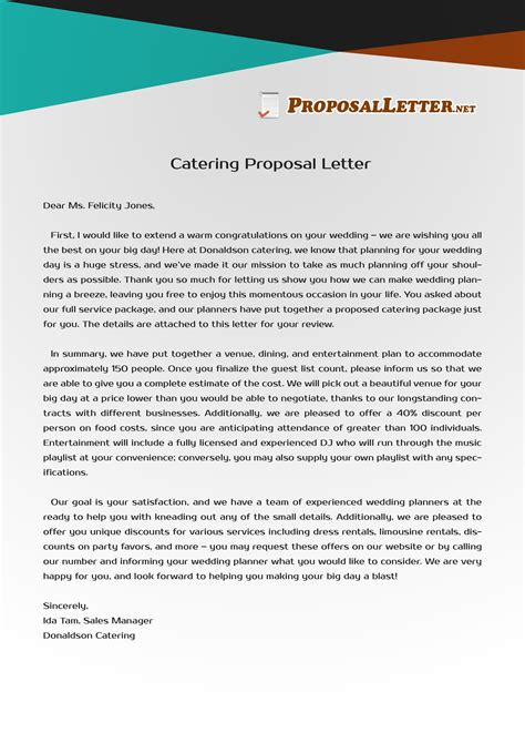 Contract Winning Letter need help to write catering letter see these sles and get a professional helping