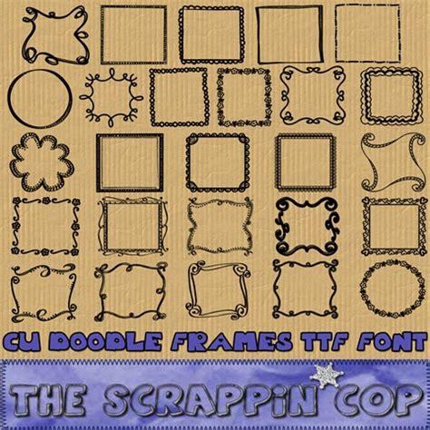 free doodle frame font the scrappin cop cu doodle frame ttf dingbat font