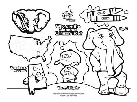Crimson Tide Coloring Pages Pinterest Alabama Football Coloring Pages