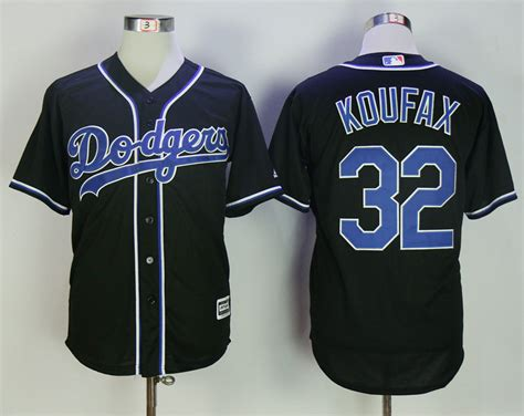Jersey Baseball Yankees 32 new dodgers 32 koufax black cool base jersey cheap sale