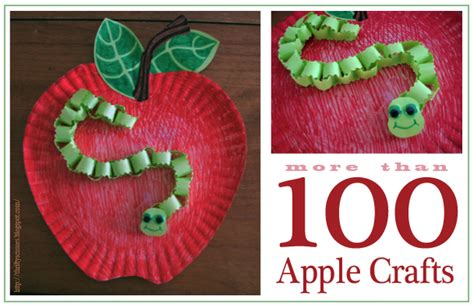 How To Make A Paper Worm - 20 apple craft ideas ted s