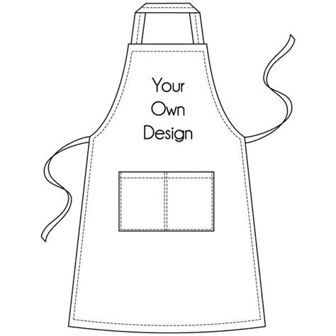 apron design template personalised apron pandalove