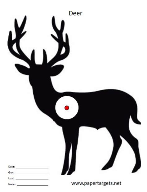 printable animal targets for shooting practice 20 best images about deer targets on pinterest a deer