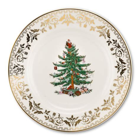 spode christmas tree gold collection set of 4 salad plate