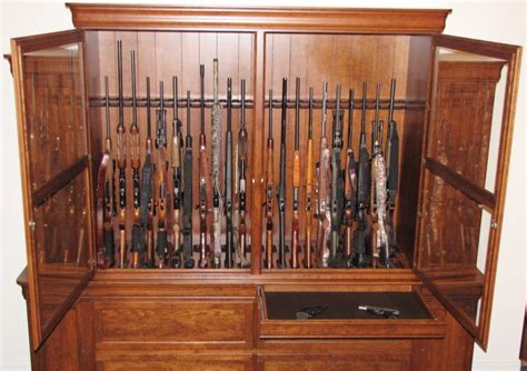 Cabinet Door Storage Ideas by Custom Cherry Gun Cabinet 46 Gun Cabinet Huge Gun