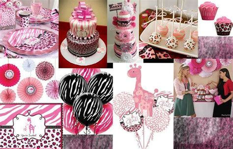 zebra themed baby shower decorations colorful zebra stripes and pink baby shower decorations