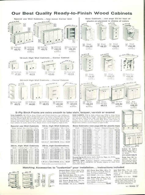 Kitchen Cabinet Catalog 1958 Sears Kitchen Cabinets And More 32 Page Catalog