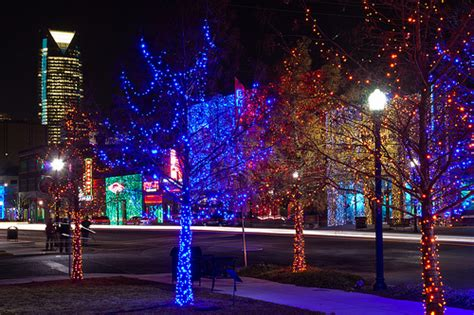 automobile alley christmas lights photo