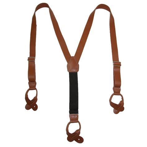 Button 1 End new ctm s leather button end 1 inch suspenders ebay