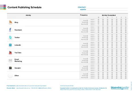 social media planner template social media planning template