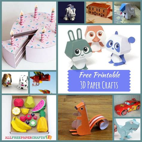 Free Printable Paper Crafts - 21 free printable 3d paper crafts allfreepapercrafts