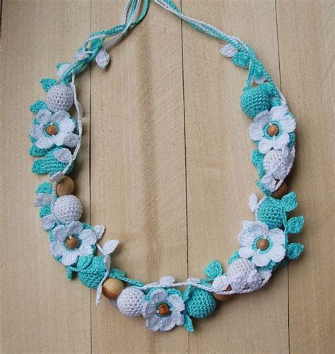 by teething crochet breastfeeding necklace nursing nittomiton crochet nursing teething necklace for moms breastfeeding