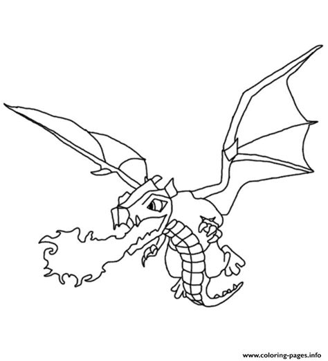 Clash Of Clans Dragon Coloring Page | dragon clash of clans coloring pages printable