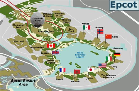 map of epcot file epcot map png