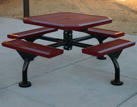 metal picnic bench 46 quot infinity metal picnic table