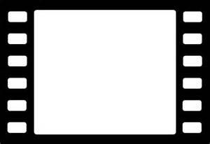 Frame black white video black and white symbol