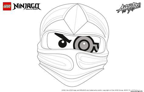 coloriage ninjago lego 1 face zane jecolorie com