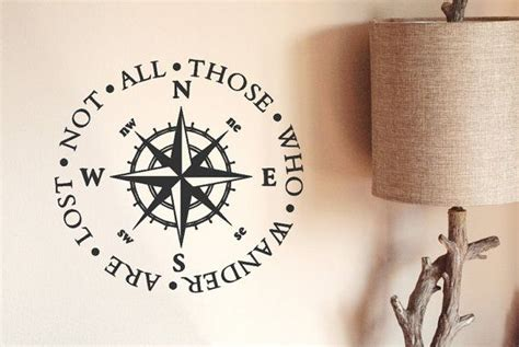 compass tattoo not all who wander are lost nautical compass decal not all those who wander are lost