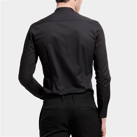 Mao Dress mao collar dress shirt black m basique touch of